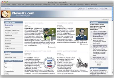 Uzbekistan blocks Newsuz.com website
