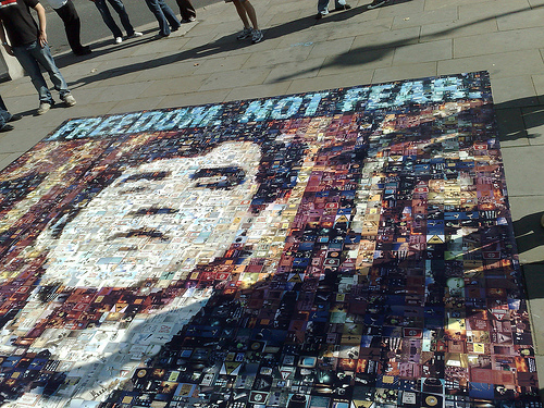 Freedom not Fear Collage in London