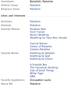 Diana Buttu's Facebook interests