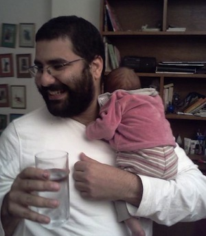 Alaa with Khaled. Photo by Rasha Abdulla, used with permission.