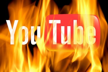 YouTube in flames
