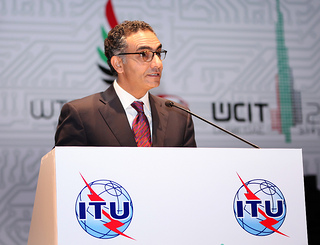 ICANN CEO Fadi Chehade speaks at the opening ceremony at WCIT 2012, courtesy of Flickr user itupictures.