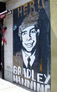 Bradley Manning mural. Photo by mulch.thief. (CC BY-NC-SA 2.0)
