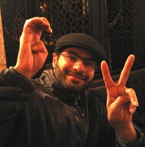 Ali Abdulemam el 13 de mayo de 2013 en Oslo, Noruega. Foto de Hisham Almiraat.