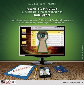 Campaign poster from Bytes for All, Pakistan
