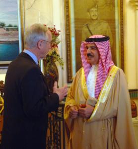 King Hamad Bin Isa Al-Khalifa of Bahrain with US Deputy Secretary of Defense Gordon England. Released to the public domain.