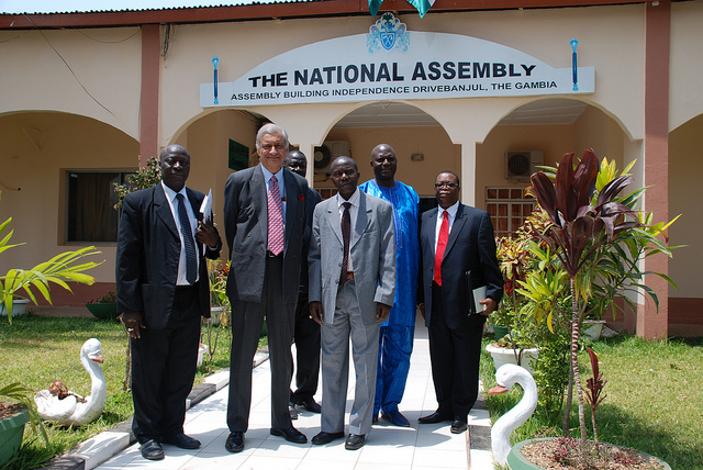 Members of the Gambian National Assembly meet with  Secretary-General Kamalesh Sharma. (CC BY-NC-ND 2.0)