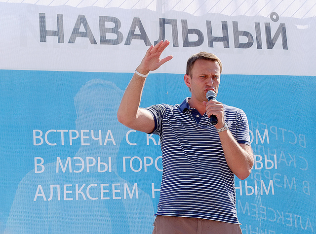 Alexey Navalny at a campaign rally. Photo by Alexey Ruban (CC BY-NC-SA 2.0)