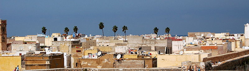 View on the medina of Casablanca in Morocco. Photo by Pawel Ryszawa via Wikimedia Commons (CC BY-SA 2.0)