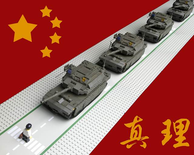 Lego art based on Tiananmen Square massacre. Photo by Eric Constantineau. (CC BY-NC 2.0)