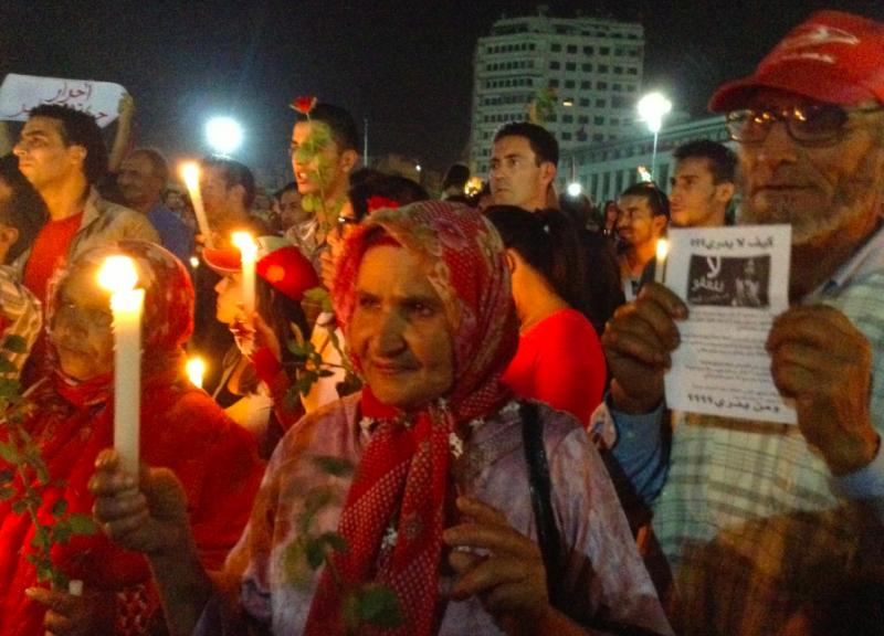 المظاهرات في المغرب، تصوير هشام المرآة.