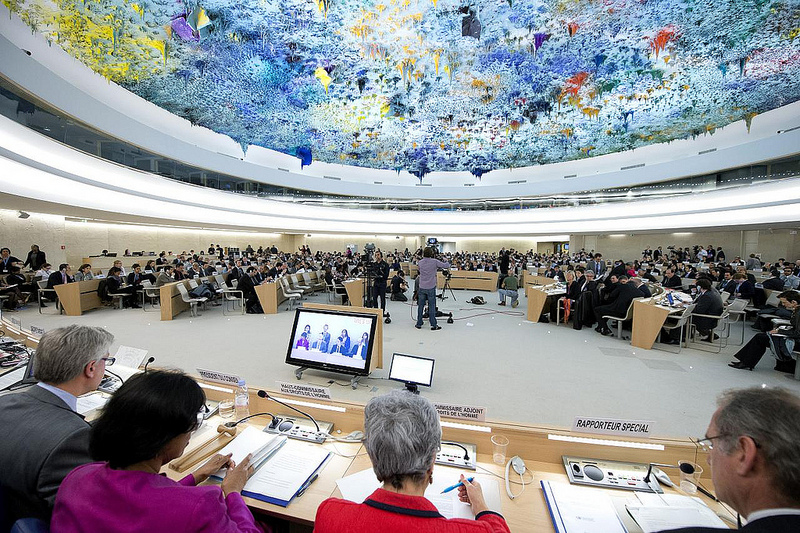 UN Human Rights Council meeting. Photo by United Nations Geneva via Flickr (CC BY-NC-ND 2.0)