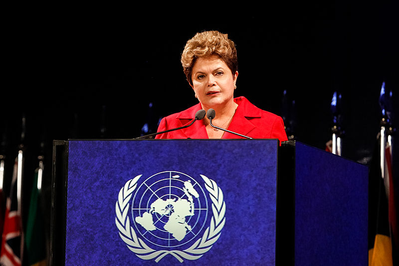 Dilma Rousseff addresses the UN General Assemby in 2012. Photo by Blog do Planalto via Picasa (CC BY-SA 2.0)