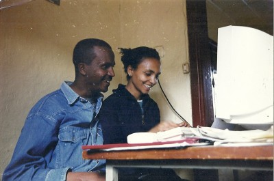 Eskinder Nega and his wife Serkalim Fasil
