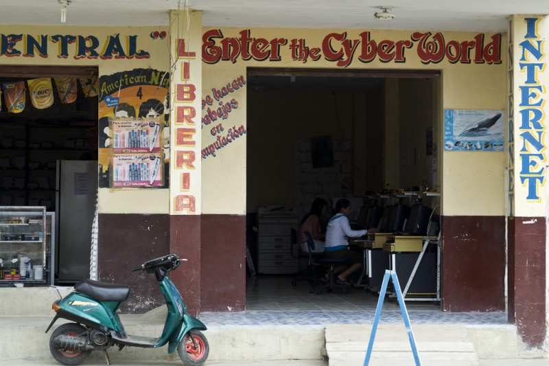 Cybercafe, Ecuador. Photo by Romsrini via Flickr (CC BY-NC-ND 2.0)
