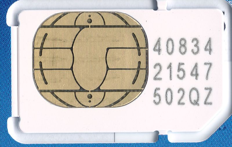 SIM card. Released to public domain, via Wikimedia Commons.