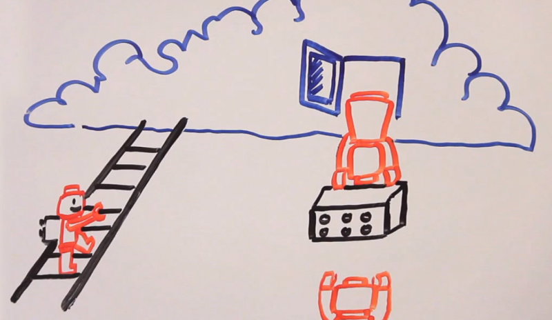 Cloud cartoon from Fundacion Karisma video.