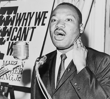 Martin Luther King, Jr. Image released to public domain.