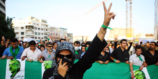 Iranian green movement protest, 2009. Photo by Waging Non-Violence (CC BY 4.0)
