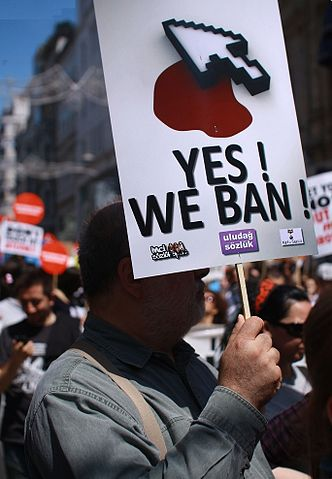 Protest against Internet censorship. Istanbul, May 2011. Photo by Erdem Civelek via Wikimedia Commons (CC BY 2.0)