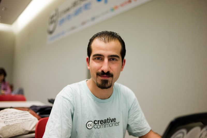 "Bassel ""Safadi"" Khartabil. Photo by Joi Ito via Flickr (CC BY 2.0)"