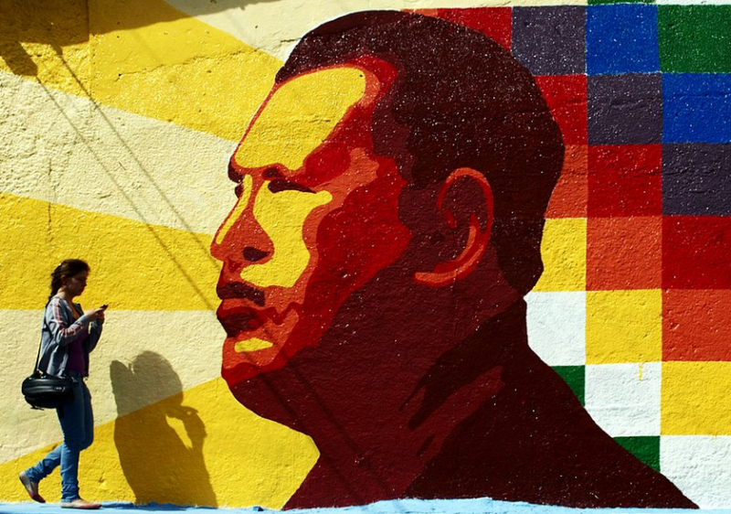 Mural of Hugo Chavez in Merida, Venezuela. Photo by David Hernandez via Wikimedia Commons (CC BY-SA 2.0)