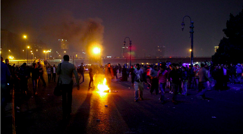 Demonstrators in Cairo, January 2013. Photo by Gigi Ibrahim via Wikimedia Commons (CC BY 2.0)