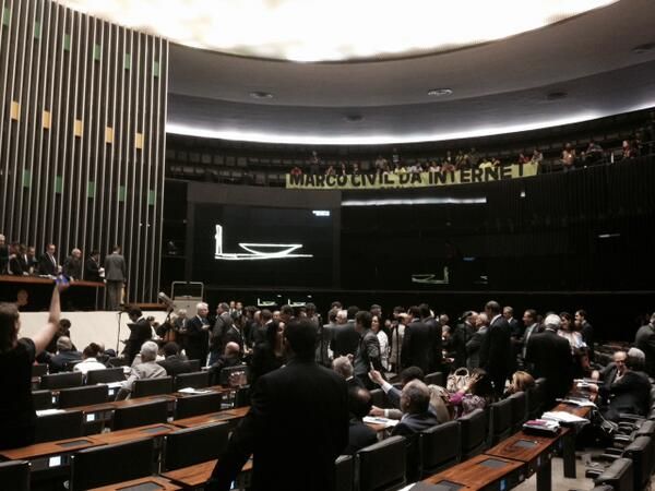 Activists cheer for the bill in the Chamber. Photo by @MarcoCivil via Twitter.