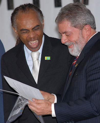 Gilberto Gil and former Brazilian president Lula. Photo by Wilson Dias/Agencia Brasil via Wikimedia Commons (CC BY 3.0)