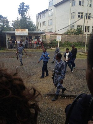 Scene outside Addis Ababa court. Photo published with permission.