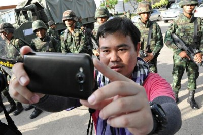 "Thailand ""coup selfie"" posted on Twitter by @MarcoTexRanger."