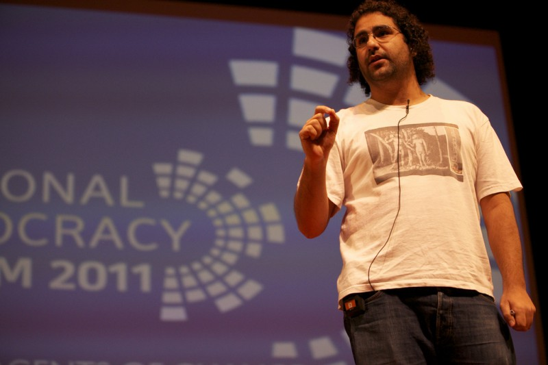 Alaa Abd El Fattah, speaking at Personal Democracy Forum, 2011. Photo by PDF via Flickr (CC BY-SA 2.0)