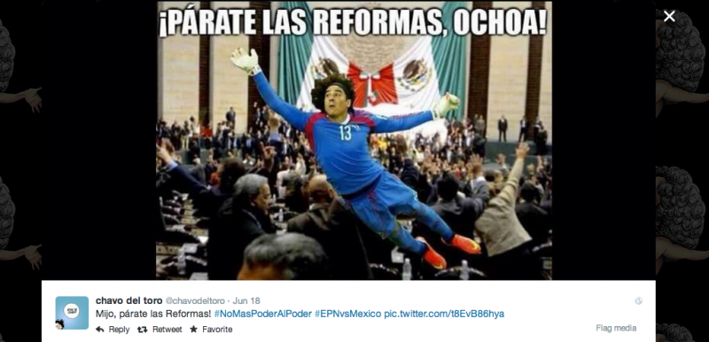 Spoof image tweeted by Chavo del Toro (@chavodeltoro)