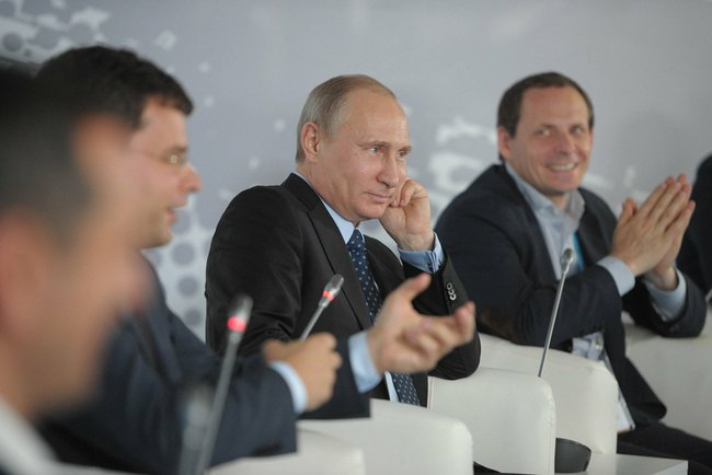 Vladimir Putin attends the Internet Entrepreneurship in Russia Forum in Moscow, June 10, 2014, Kremlin Press Service.