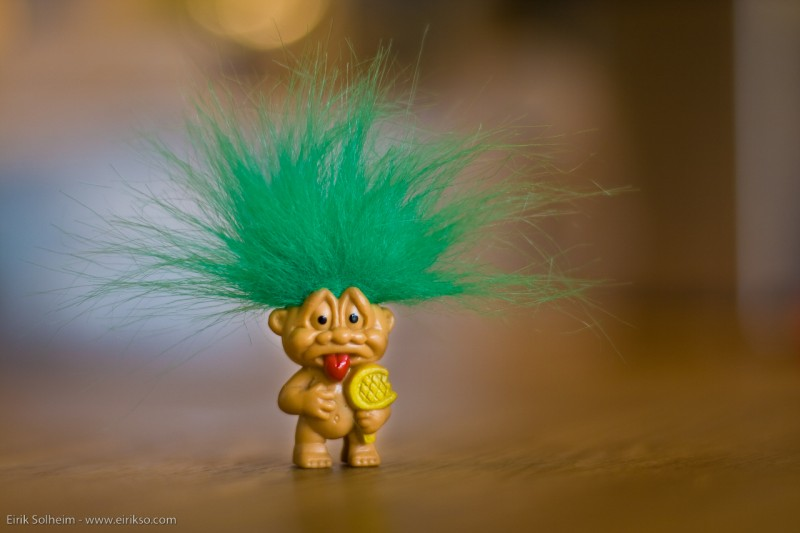 Troll doll photo by Erik Solheim via Flickr (CC BY-SA 2.0)