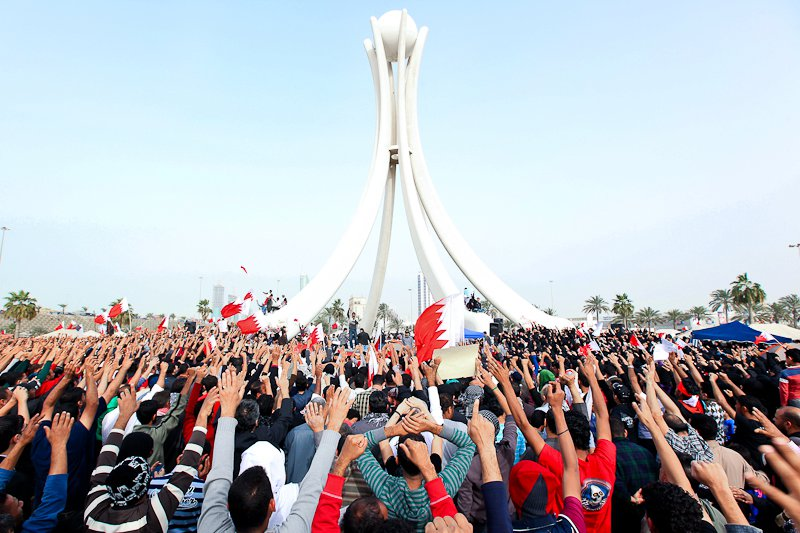 Protests in Bahrain, 2011. Photo by Bahraini activist via Wikimedia Commons (CC BY-SA 3.)