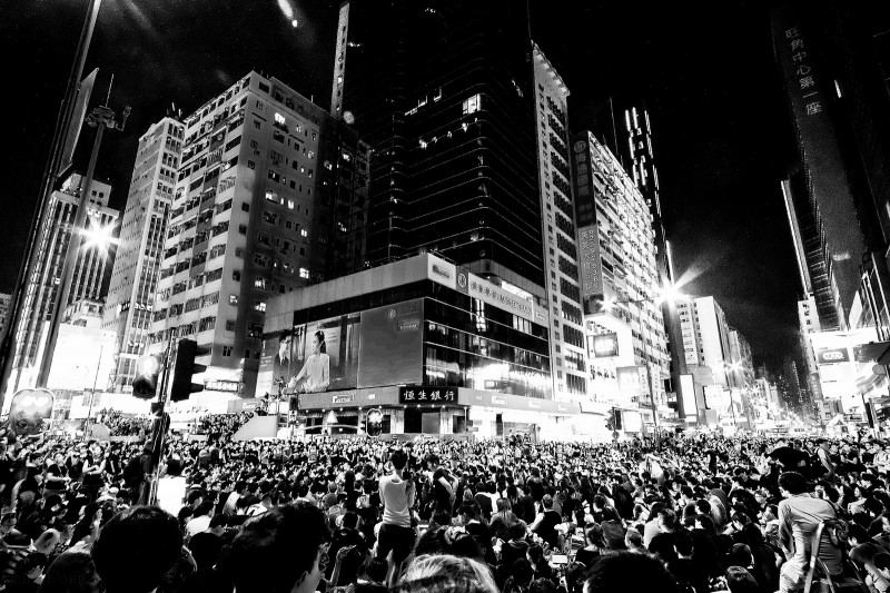 Protests in Hong Kong, Sept. 29 , 2014. Photo by Bluuepanda via Flickr (CC BY 2.0)