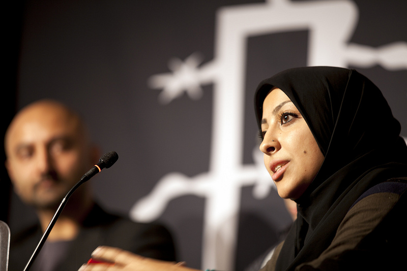 Maryam Al-Khawaja speaking in 2011. Photo by amnestystudent via Flickr (CC BY 2.0)
