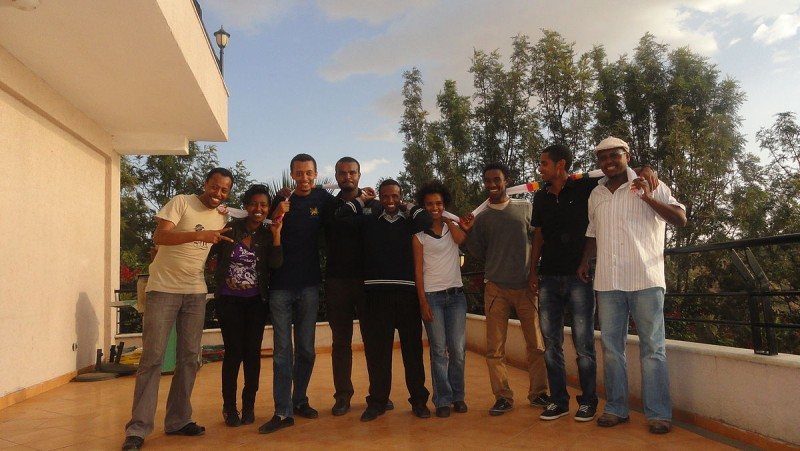 All members of Zone9 in Addis Ababa, 2012. Photo courtesy of Endalk Chala.