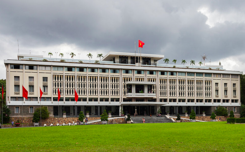 Reunification Palace, Ho Chi Minh City. Photo by Diego Delso via Wikimedia (CC BY-3.0)