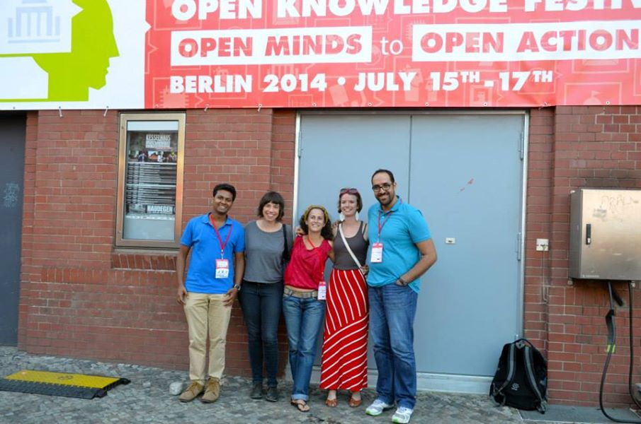 Ellery with Global Voices friends in Berlin, July 2014. PHOTO: Subhashish Panigrahi