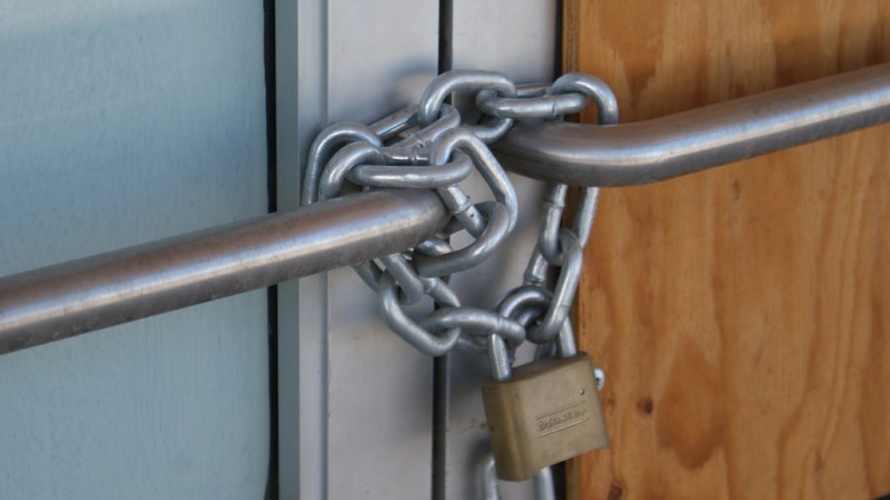 Locked door. Photo by Bradley Gordon via Flickr (CC BY 2.0)