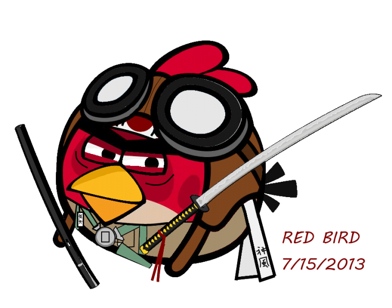 Red bird pilot by fORCEMATION via deviantart.com (CC BY 3.0)
