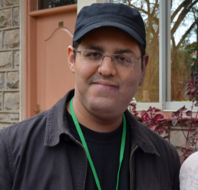 Hisham Almiraat at the Global Voices Summit in Nairobi, 2012.