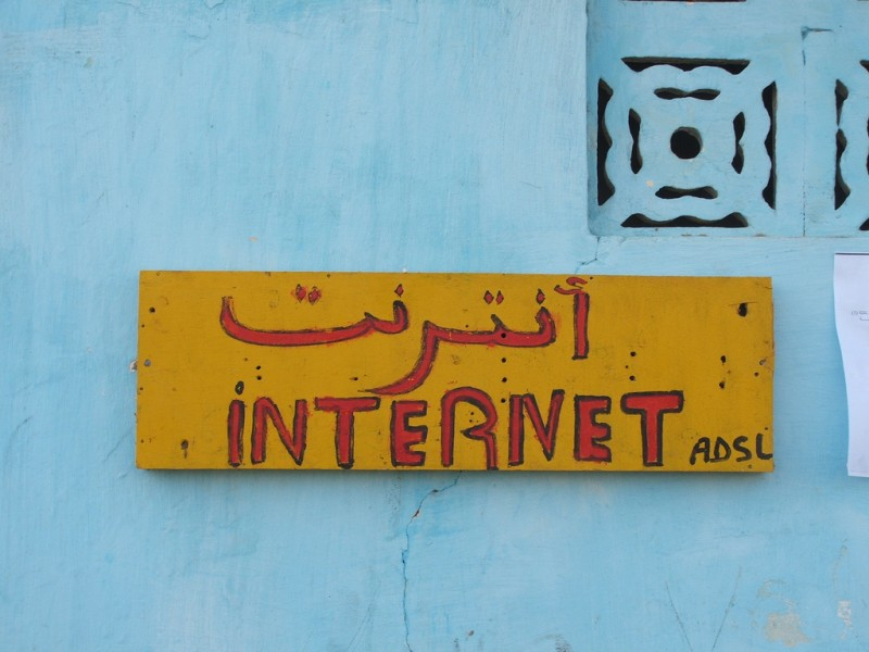 Cyber cafe in Rosso, Mauritania. Photo by Cyrus Farivar via Flickr (CC BY-NC-SA 2.0)
